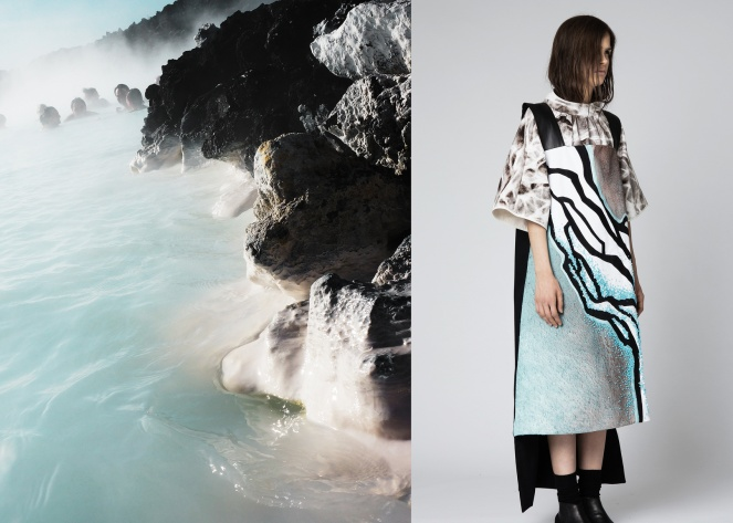 Collection of Yunan Wang, Inspired by her trip to Iceland